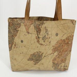 Vintage Map Print Tote Bag